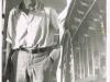 Fotografi av fyrvokter Ole Holm fra torungen fyr - Tatt i 1950