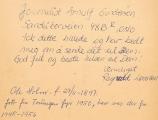Fotografi av fyrvokter Ole Holm fra torungen fyr - Tatt 1950- bakside